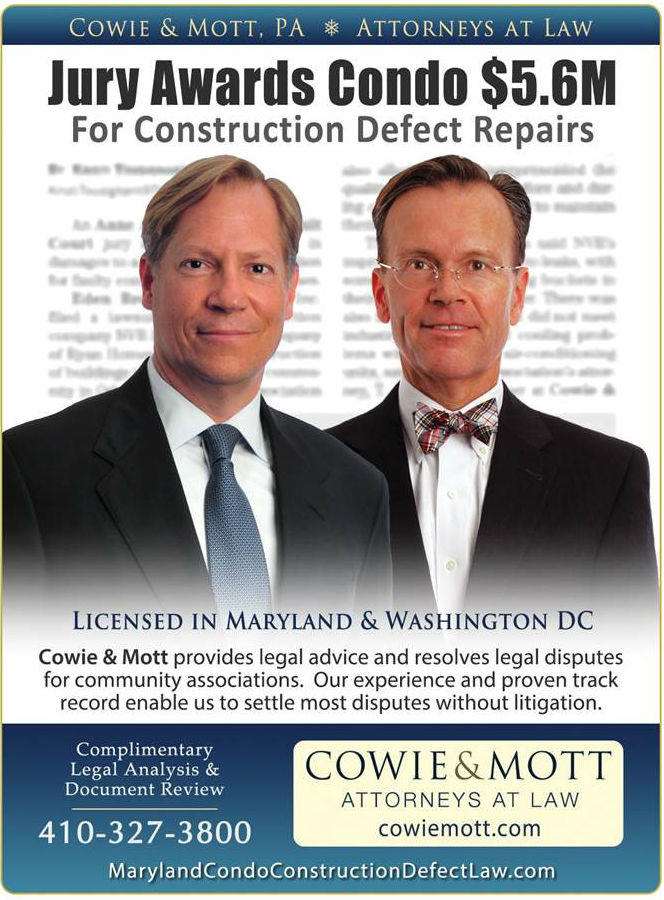 Maryland Warranty Lawyers for Construction Defects Maryland Construction Defect Jury Verdict for Condominium by Maryland Construction Lawyers
