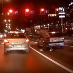 Al. Bora-Komorowskiego o krok od tragedii i agresja drogowa