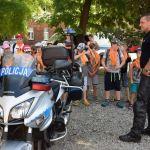 Wizyta dzieci w czasie dnia otwartego Komendy Miejskiej Policji w Krakowie