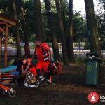 Wypadek w parku linowym. Z wysokości 7 metrów spadł 12-letni chłopiec