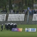 Konfrontacja pomiędzy Kibicami Wisłoki, Hutnika, Ochroną i Policją. Zobacz nagranie