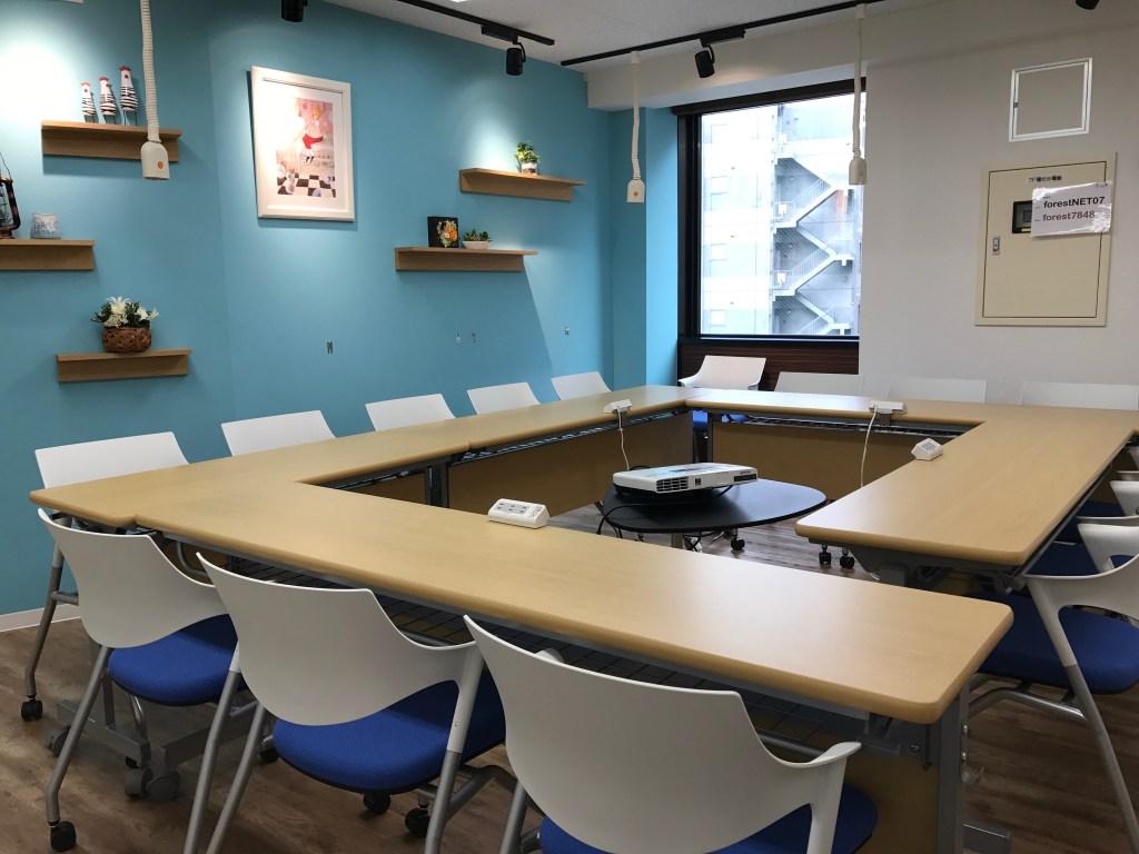 増床した「コワーキングスペース Open Office FOREST」の貸会議室