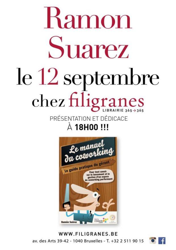 ramon-suarez-chez-filigranes-presentation-dedicace-manuel-coworking-livre