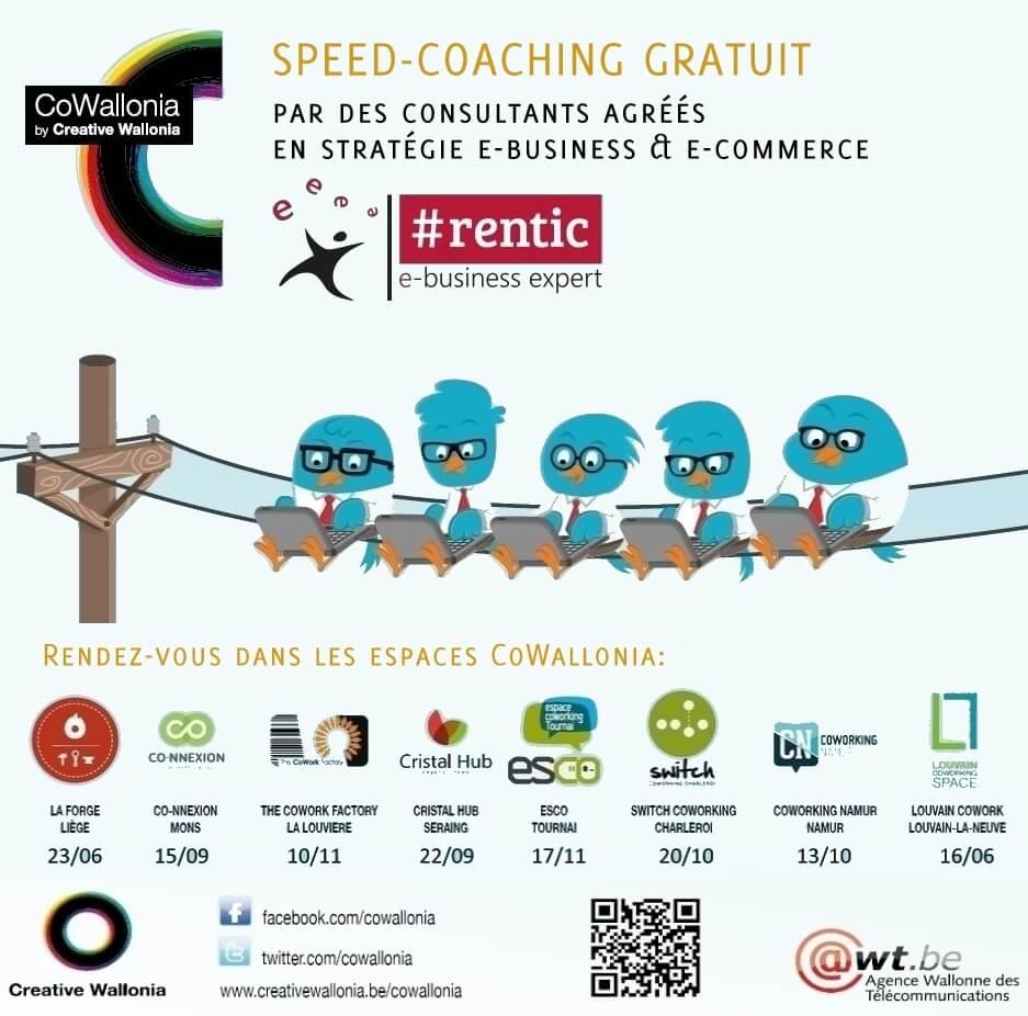Speed Coaching gratuit avec des consultants RENTIC