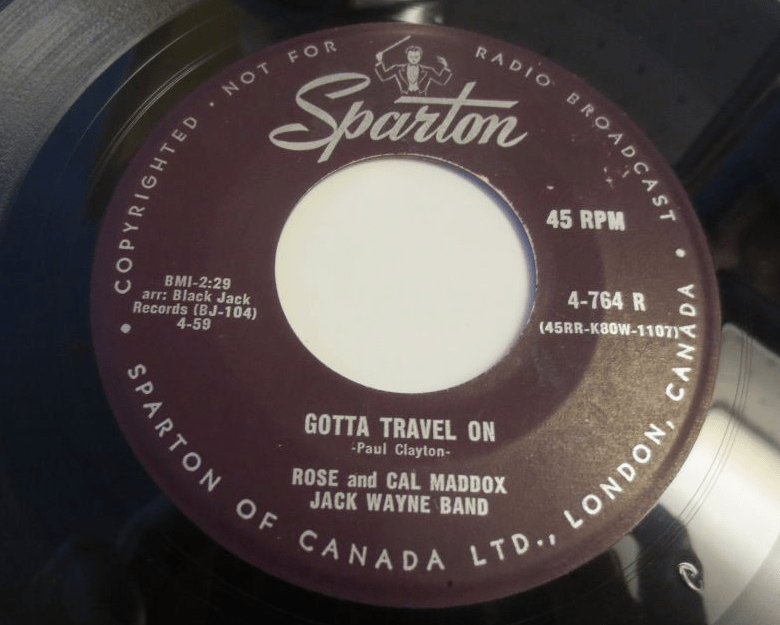 Gotta Travel On - Rose and Cal Maddox (Record Label)