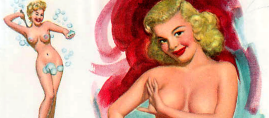 November 1955 Pinup Girl (Detail)