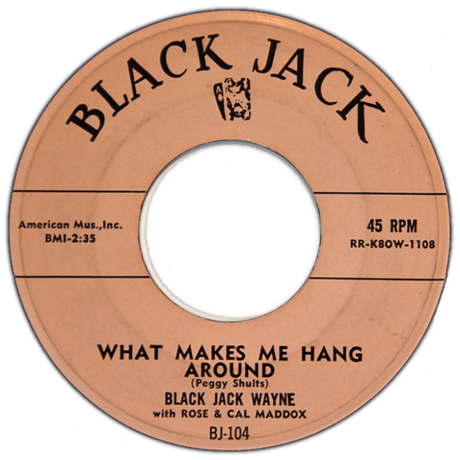 Blackjack Wayne Record Label (Image)