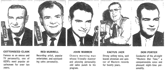 KEEN Radio (1370 AM) Air Team, Circa 1963 (Image)