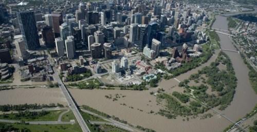Pince's Island Park - Calgary Flood 2013