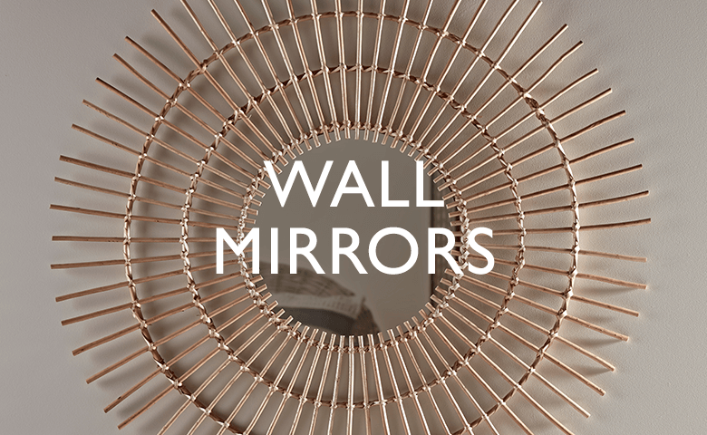 Mirrors, Large Wooden & Copper Wall Hanging & Full Length