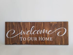 coxandthehen - welcome to our home wood sign sample