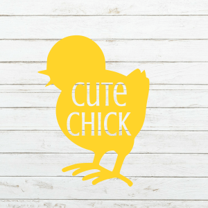 Cute Chick Svg - Easter Svg - Girl Easter Shirt - Chick Svg - Cricut - Cameo - Cutting File - Png Svg Dxf Eps - Commercial Use - coxandthehen