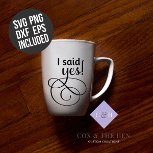 I said yes! SVG - Wedding Svg - Engagement Svg- Future Mrs. Svg - Cricut - Cameo - Cutting File - Png svg dxf eps - diy bride - Commercial