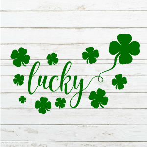 Lucky Svg - St Patricks Day - St Pattys - St Patricks Day Shirt - Shamrocks - Cricut - Cameo - Cutting File - Png Svg Dxf Eps - Commercial - coxandthehen