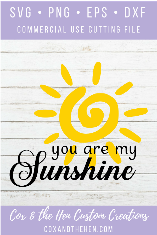 You Are My Sunshine SVG - Wood Sign Stencil