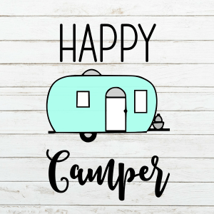 Happy Camper SVG - Camper SVG - Camping SVG - Camping - Summer SVG - Retro Camper SVG - Commercial Use Cut File