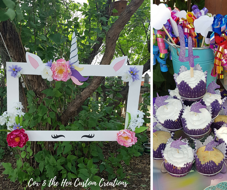 DIY Unicorn Birthday Party - Do you have someone in your house who loves unicorns? Check out this DIY unicorn birthday party I put together for my daughter's 4th birthday party! - Cox & the Hen Custom Creations