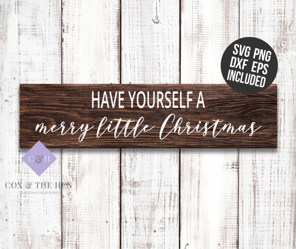 Merry Little Christmas SVG - christmas stencil for wood sign - christmas decoration - christmas svg - christmas wood sign stencil - christmas sign