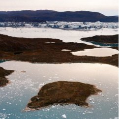 Arctic meltwater lakes