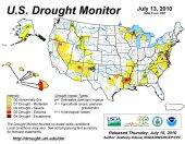 US Drought Monitor July 13, 2010