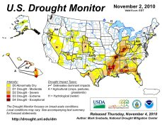 US Drought Monitor November 2, 2010