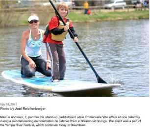 Standup paddling beginner