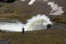 Long Draw Reservoir spilling