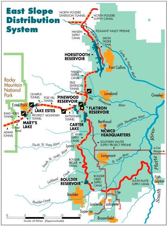 Colorado-Big Thompson Project east slope facilities