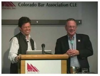 Peter McBride and Greg Hobbs at CFWE Colorado Water 2012 event