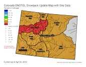 Statewide snowpack April 2, 2012 via the NRCS