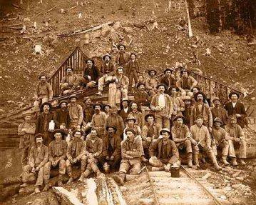 Saints John Mine miners circa 1880