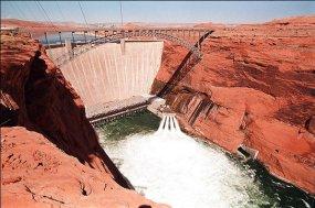 Glen Canyon Dam discharge via Tom Smart