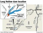 Long Hollow Reservoir location map via The Durango Herald