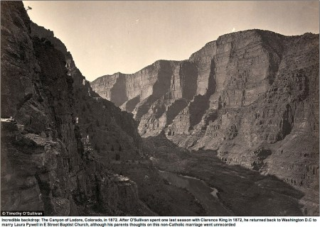 Lodore Canyon via Timothy O. Sullivan