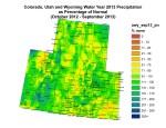 Water Year 2013 Precipitation Upper Colorado River Basin via the Colorado Climate Center
