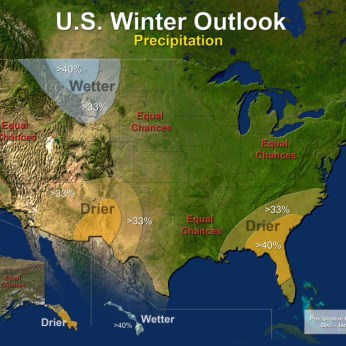 US Precipitation Outlook December 2013 to February 2014 via NOAA