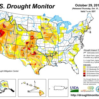 US Drought Monitor October 29, 2013