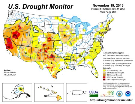 US Drought Monitor November 19, 2013