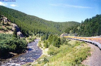 South Boulder Creek near the East Portal of the Moffat Tunnel via Jason Lee Davis