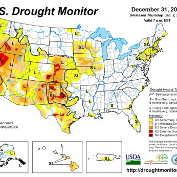 US Drought Monitor for December 31, 2013