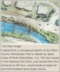 Proposed Basalt whitewater park via the Aspen Daily News