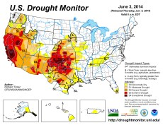 US Drought Monitor June 3, 2014