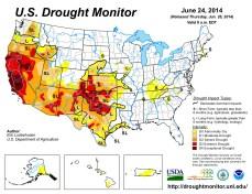 US Drought Monitor June 24, 2014