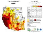 West Drought Monitor July 29, 2014