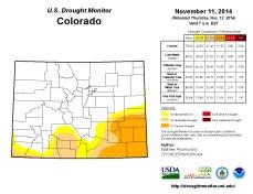 Colorado Drought Monitor November 11, 2014