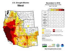 West Drought Monitor November 4, 2014