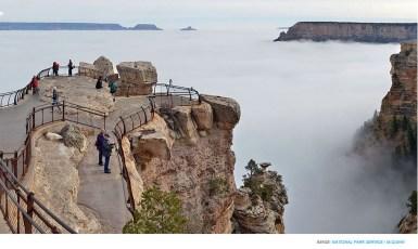 Fog-filled Grand Canyon
