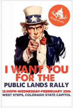 Public Lands Rally graphic via Backcountry Hunters and Anglers