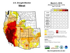 West Drought Monitor March 3, 2015