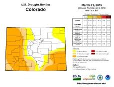 Colorado Drought Monitor March 31, 2015